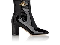 Gucci Women's Lois Patent Leather Ankle Boots Black