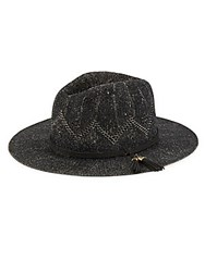 Collection 18 Tasseled Woven Hat Black