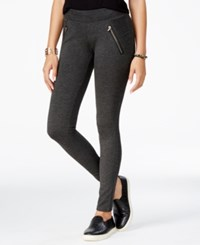 American Rag Ponte Zipper Leggings Only At Macy's Charcoal