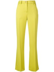 Versace Collection Flared Slim Trousers Green
