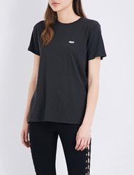 Obey Jumbled Split Fountain Cotton Jersey T Shirt Black