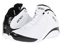 And 1 Rocket 3.0 Mid White White Black Men's Basketball Shoes