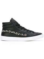 Paul Smith Lace Up Hi Top Sneakers Men Leather Rubber 6 Black