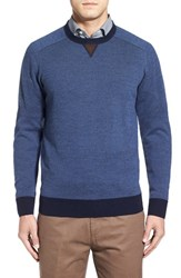 Peter Millar Men's Merino Wool Crewneck Sweater Navy