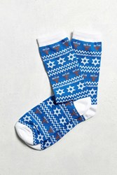 Urban Outfitters Chanukah Sock Blue