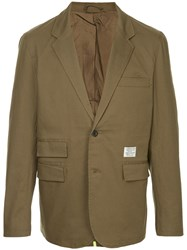Makavelic Lined Tailored Jacket Green