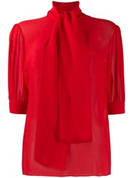 Blumarine Funnel Neck Fitted Blouse 60