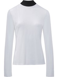 Paco Rabanne Contrasted Collar Sweater White
