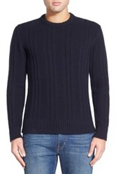 Jack Spade 'Pollock' Ribbed Wool Blend Crewneck Sweater Blue