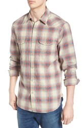 Lucky Brand Men's Santa Fe Plaid Western Shirt