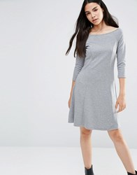 Vero Moda Skater Dress Med Grey Melange