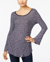 Styleandco. Style Co. Striped Bell Sleeve Top Only At Macy's Navy