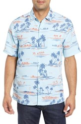 Kahala Bright Sands Trim Fit Sport Shirt Blue