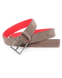 Hugo Hugo Boss Taupe Suede Belt