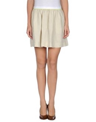 Noshua Mini Skirts Beige