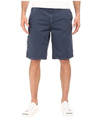 Buffalo David Bitton Hirculean Solid Twill Shorts Whale Men's Shorts Blue