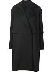 Vera Wang Double Trench Coat Black