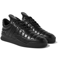 Filling Pieces Low Top Fuse Quilted Leather Sneakers Black