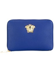 Versace Palazzo Medusa Tote With Detachable Clutch Blue