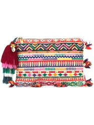Figue Multi Print Tassel Clutch Multicolour