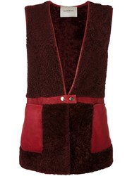 Lanvin Snap Closure Gilet Red