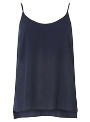 Dorothy Perkins Navy Strappy Camisole Top Blue