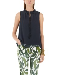 Marc Cain Double Layer Blouse Navy