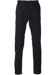 Emporio Armani Slim Chino Trousers Blue