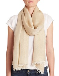 Lord And Taylor Shimmer Frayed Scarf Grey