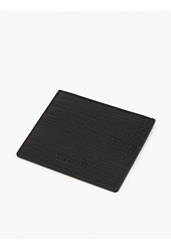 Jil Sander Men's Black Grained Leather Card Holder
