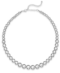 Charter Club Silver Tone Graduated Bead Collar Necklace