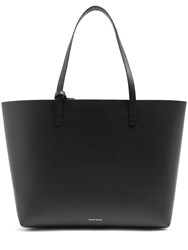 Mansur Gavriel Pink Lined Large Leather Tote Black Pink