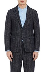 Tomorrowland Tweed Two Button Sportcoat Blue Size 48 Eu