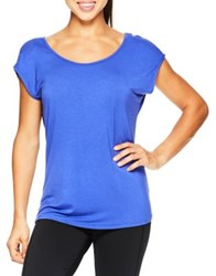 Gaiam Sadie Solid Strappy Tee Grey Heather