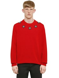 Givenchy Star Patches Cotton Sweater