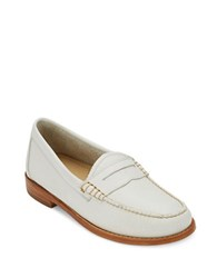 G.H. Bass Whitney Leather Penny Loafers White