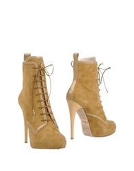 John Galliano Ankle Boots Sand