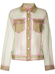Viktor And Rolf Sheer Fitted Jacket Green