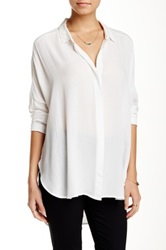 Lush Button Front Shirt White