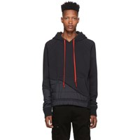 Greg Lauren Black 50 50 Puffy Hoodie
