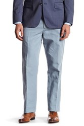 Bonobos Foundation Blue Woven Regular Fit Double Pleated Trouser 32 34 Inseam Gray