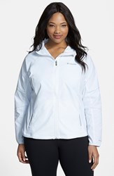 Plus Size Women's Columbia 'Sweet As Softshell' Hooded Jacket White