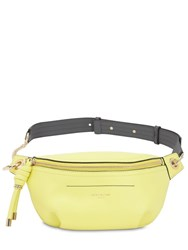Givenchy Small Whip Smooth Leather Belt Bag Neon Yellow
