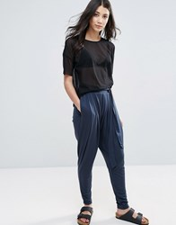 Y.A.S Tie Front Lounge Pant Total Eclipse Grey