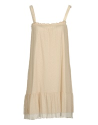 Alpha Short Dresses Beige