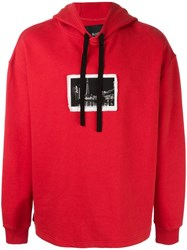 Blood Brother Stylised Patch Hoodie Red
