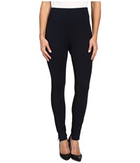 Hue High Waist Piped Illusion Ponte Leggings Black Women's Casual Pants