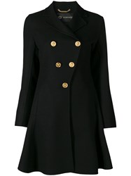 Versace Flared Coat Black