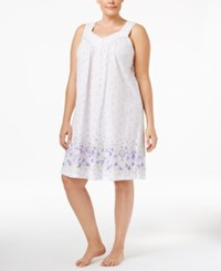Charter Club Plus Size Border Print Short Nightgown Only At Macy's Daisy Border