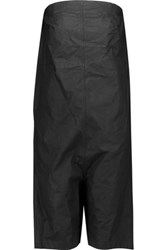 Rick Owens Coated Cotton Playsuit Black